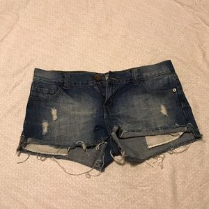 Ripped denim shorts size 8